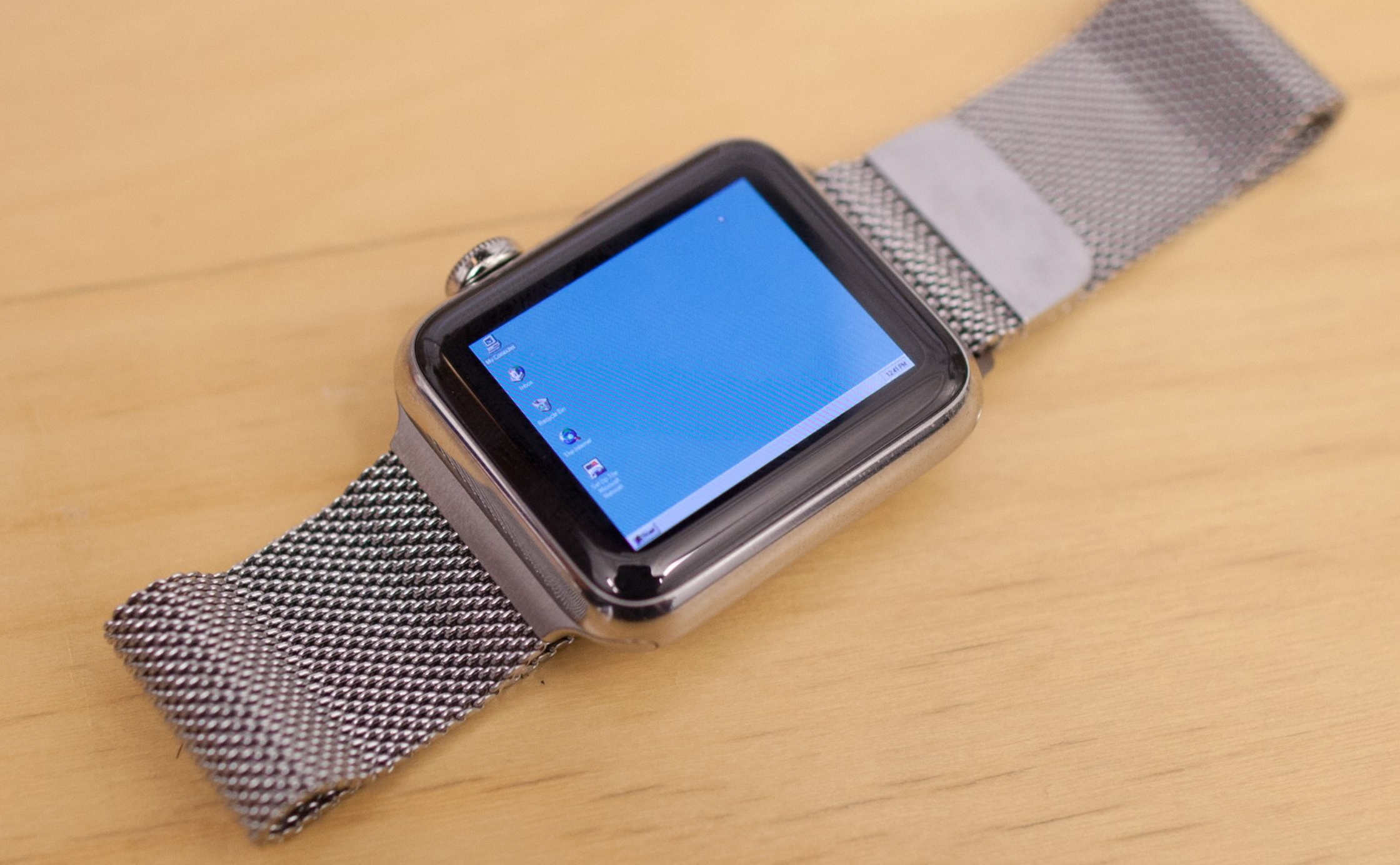 Windows 95 Nick Leen asentamana Apple Watchissa.