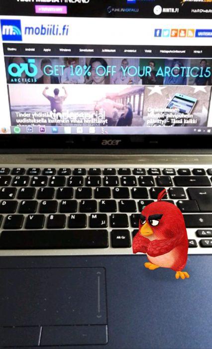 Koodiskannauksen tulos: Mobiili ei vihaista lintua kiinnosta.