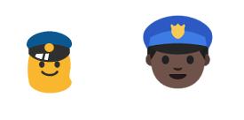 Androidin vanha poliisi-emoji vasemmalla, uusi oikealla. Kuva: Gizmodo.