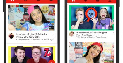 YouTube Android ja iOS