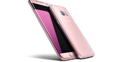 Samsung Galaxy S7 ja S7 edge Pink Gold -värityksellä.