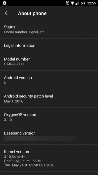 OnePlus 3 Android N kuvakaappaus