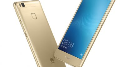 Huawei G9 Lite kultaisena.