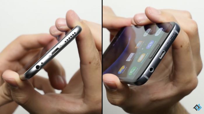 Pudotustesti iPhone 6s Galaxy S7