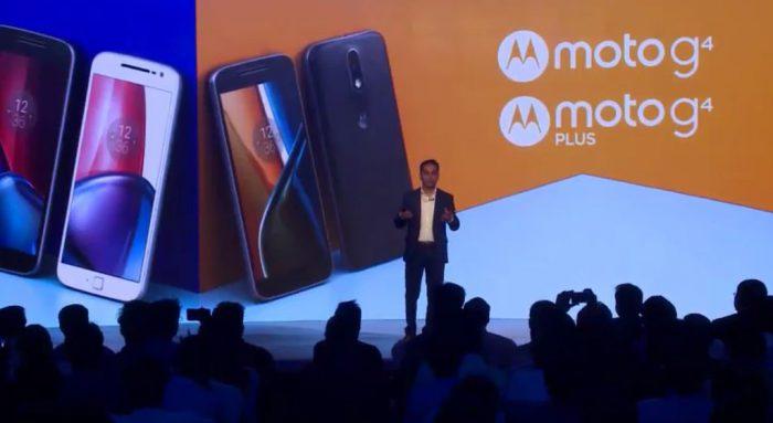 Motorola Moto G4 ja Moto G4 Plus ensiesittelyssä. Kuva: Phonearena.