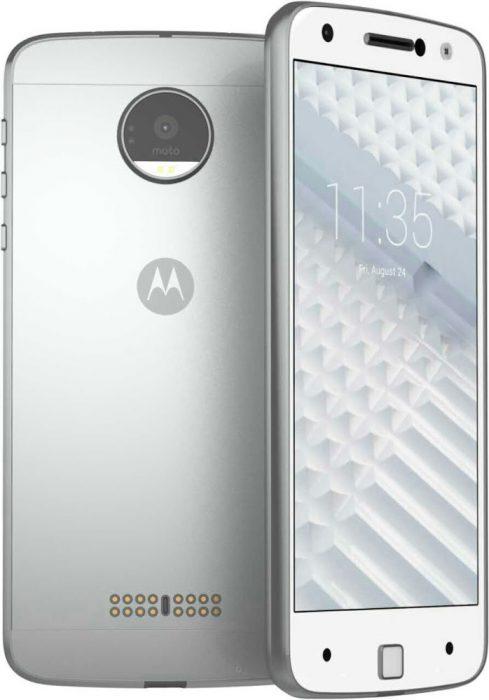Oletettu Moto Z -uutuus vuotokuvassa. Takakuoressa nähtävillä MotoModien liitäntä.