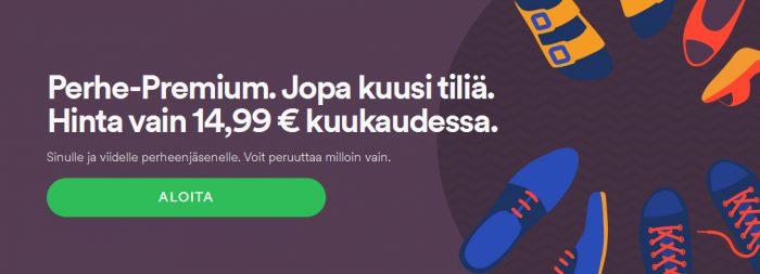 Spotifyn perhe-Premium sai uuden kannattavamman hinnan.