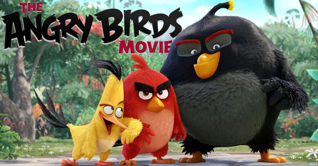 Angry Birds -elokuvassa seikkaileva lintukolmikko.