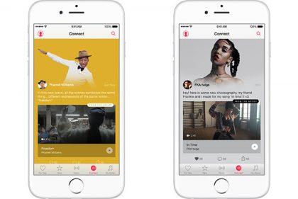Connect oli alun perin yksi Apple Musicin keskeisiä ominaisuuksia.