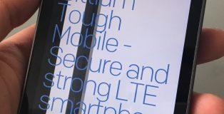 Bittium Tough Mobile on kookas ja painava sekä olemukseltaan erittäin jykevä.