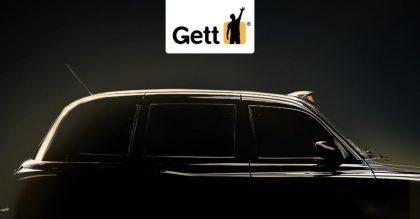 Gett-logo ja taksi.