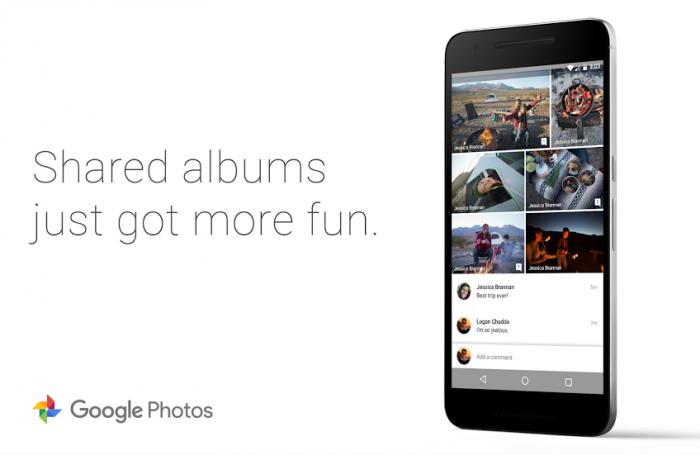 Google Kuvien jaetut kansiot tukevat nyt kommentteja.