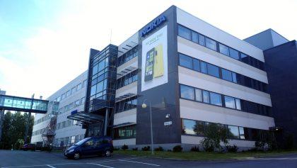 Nokian ja Microsoftin pian entisiä tiloja Tampereella.