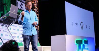 Dag Kittlaus esittelemässä Viviä TechCrunch Disruptissa. Kuva: TechCrunch.