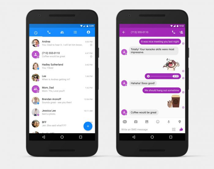 Android Facebook Messenger SMS