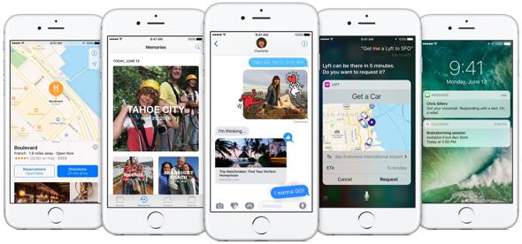 iOS 10:ssä Apple alkaa hyödyntää myös keinoälyä, jossa pohjana on käyttäjien tiedot.