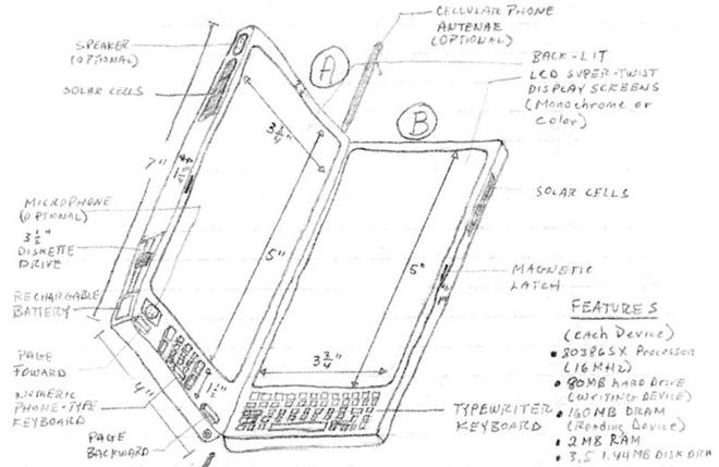 Thomas S. Ross suunnitteli sangen monimuotoista mobiililaitetta 90-luvulla.
