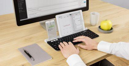 Logitech K780 Multi-Device Wireless Keyboard.