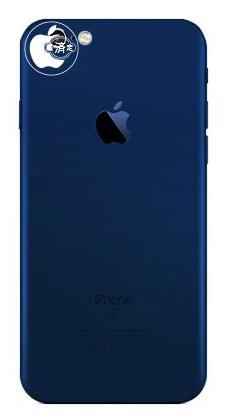 MacOtakaran näkemys tummansinisestä iPhone 7:stä.