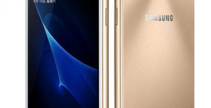 Samsung Galaxy J3 Pro kultaisena.