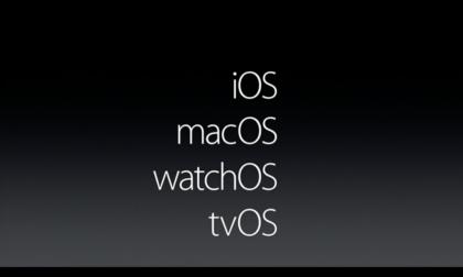 Applen alustojen nimet ovat nyt linjassa toistensa kanssa. Aiemmin OS X erottui joukosta.