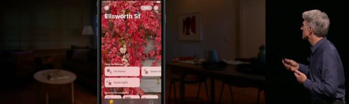 Älykotitoiminnoille tarkoitettu Home-sovellus iOS 10:llä.