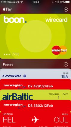 Apple Payta pääsee kokeilemaan virtuaalisella boon-kortilla.
