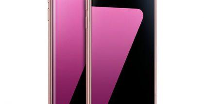 Galaxy S7 ja Galaxy S7 edge Pink Gold -värisenä.