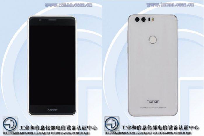 Honor 8 Kiinan telehallintoviraston kuvissa.