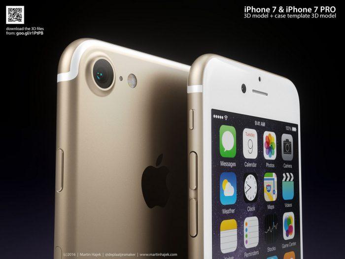 Tietokonemallinnus mahdollisesta tulevasta iPhonesta.