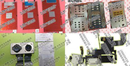 Väitettyjä iPhone 7 -komponentteja.