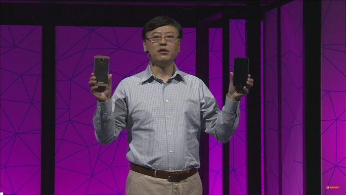 Lenovon toimitusjohtaja ja uudet Moto Z -puhelimet.