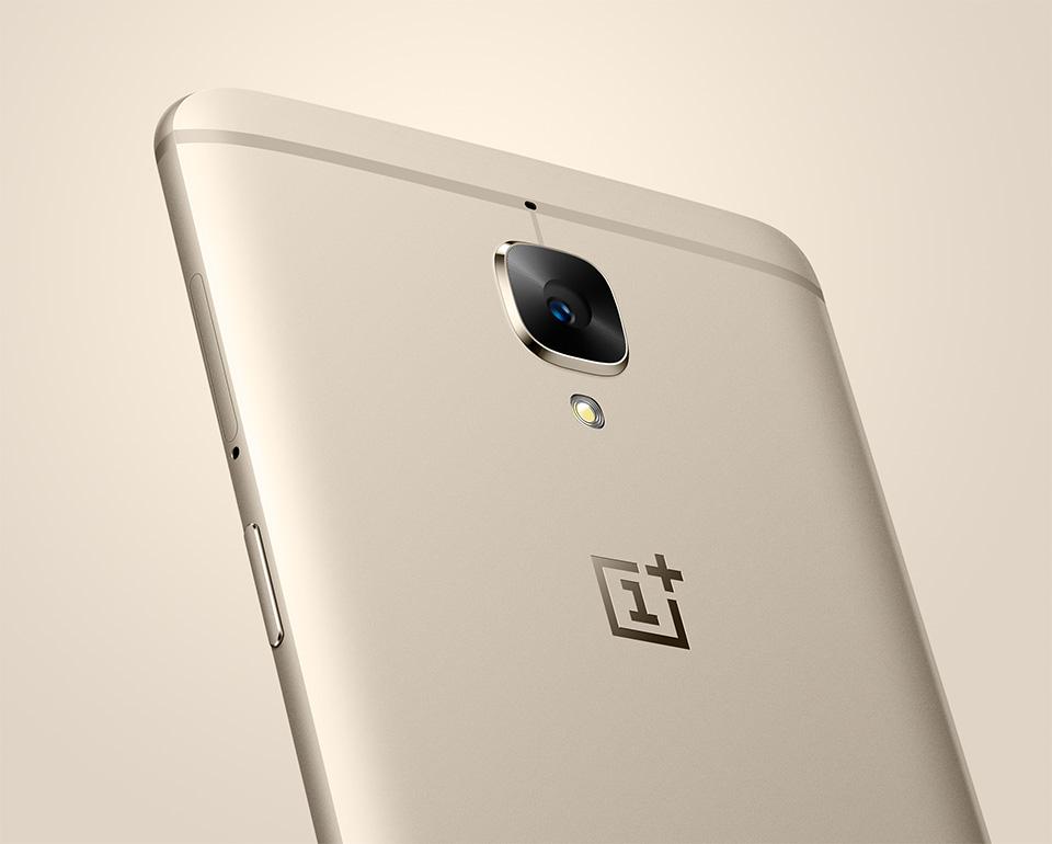 OnePlus 3 ja Soft Gold -värivaihtoehto.