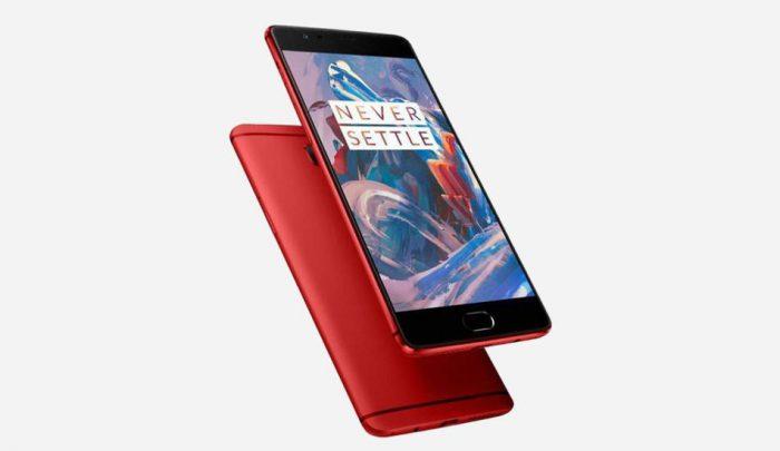 OnePlus 3 punaisena.