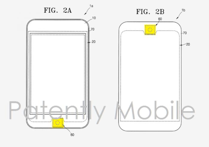 Samsung-patenttihakemus ja pyöreämpi kotipainike.