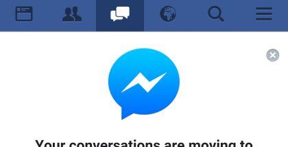 Selaimeen paenneiden Facebook-käyttäjien on pian pakko ladata Messenger.