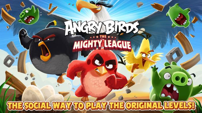 Angry Birdsin Mighty League -päivitys.