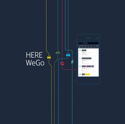 HERE Maps on nyt HERE WeGo – mukana myös uusia ominaisuuksia