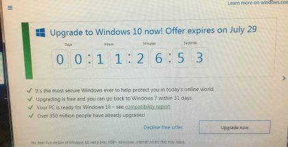 Windows 10 -päivitystarjouksessa on käsillä viime hetket.