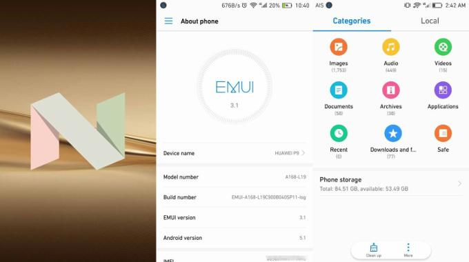 Android Nougat 7.0:n kanssa saapuva EMUI 5.0 tuo kaivattua tuoreempaa ilmettä Huawein käyttöliittymään.
