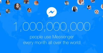 Facebook messenger miljardi käyttäjää