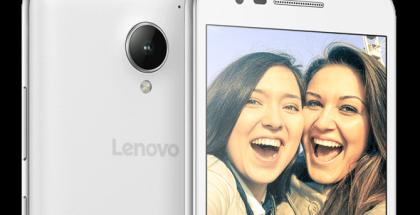 Lenovo Vibe C2:ssa on takana kahdeksan ja edessä viiden megapikselin kamera.