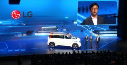 LG ja Volkswagen ovat tehneet yhteistyötä aiemminkin. Kuvassa Volkswagenin BUDD-e-konseptiauto, joka toteutettiin jo yhdessä LG:n kanssa.