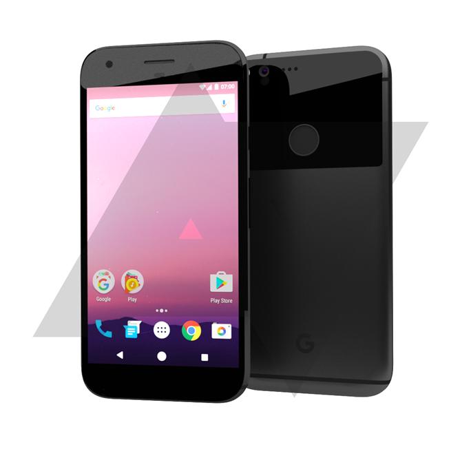 Tämän vuoden Nexus-puhelinten design Android Policen hahmotelmassa.