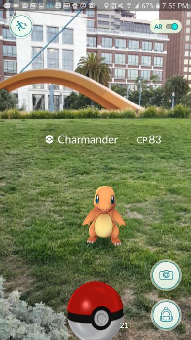 Pokémon GO -ruutukaappaus.