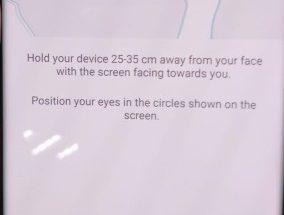 Galaxy Note7 iirisskanneri