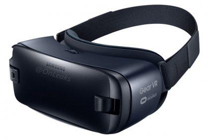 Samsungin uusi versio Gear VR:stä Galaxy Note7:n rinnalle OnLeaksin julkaisemassa vuotaneessa kuvassa.