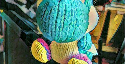 Yoshi hahmo Prisman Android-sovelluksen jäljiltä.