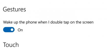 Double tap to wake Lumia 950 XL