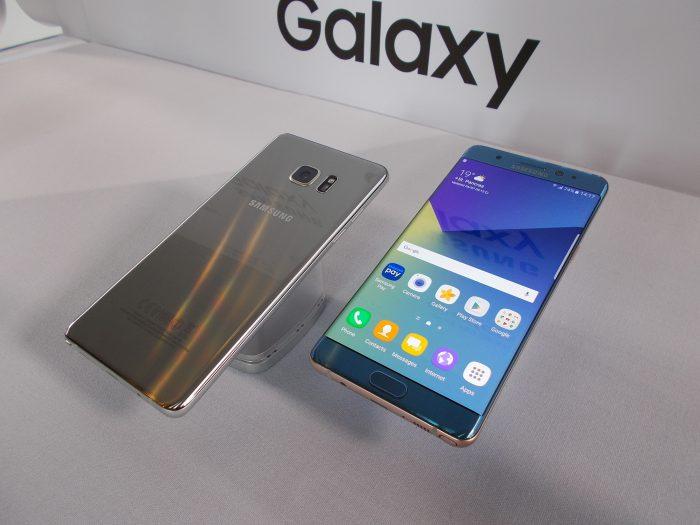 Samsung Galaxy Note7 - Gorilla Glass 5 -lasia edestä ja takaa.